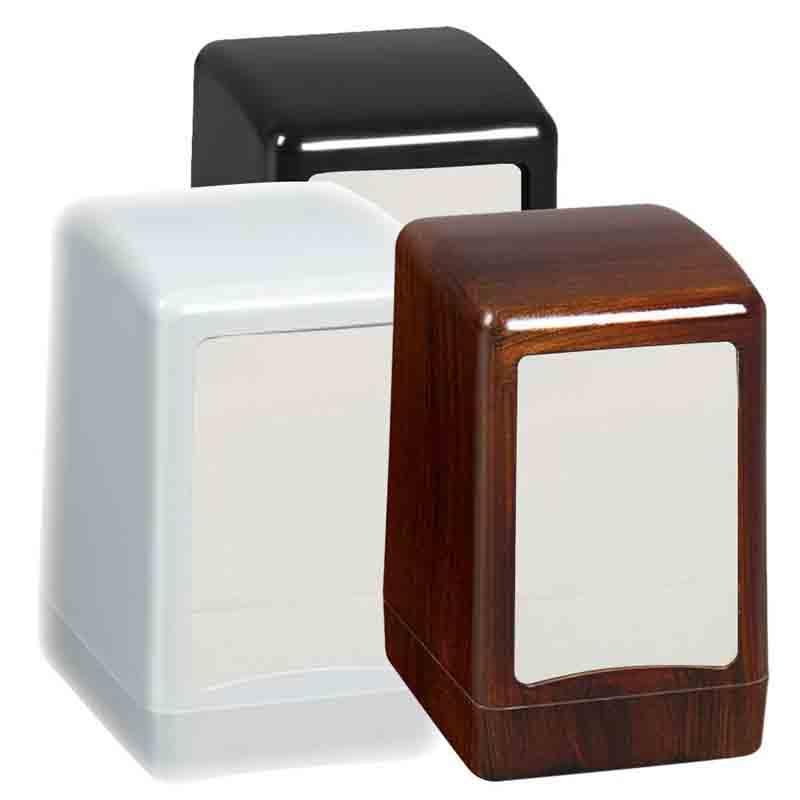 Servilletero de plástico de 17×17 - Servilleteros para restaurantes, cafeterías y bares de plástico ABS