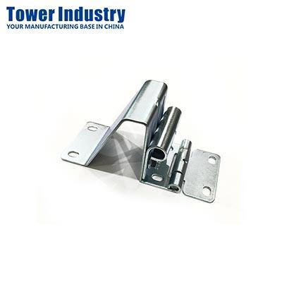 Garage Side Hinge with Roller Carrier, Stainless Steel 304, Zinc