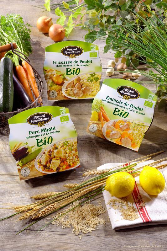 Fricassée de Poulet champignons et riz complet - Les BIO