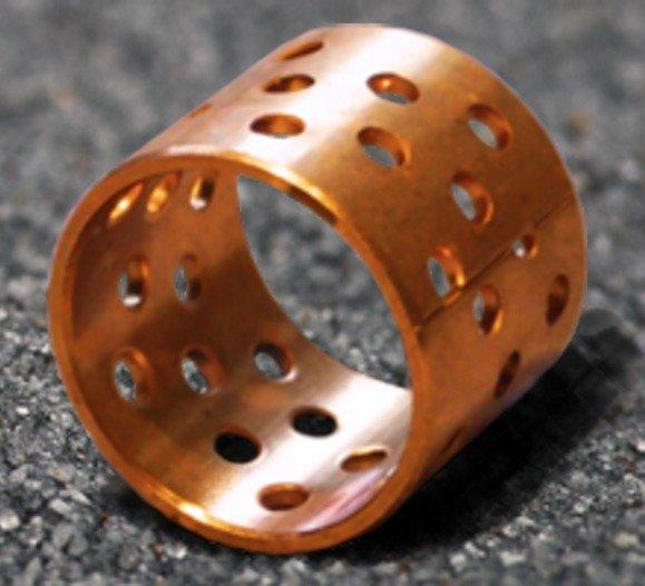 SLWB 1H - Gerolltes Gleitlager aus Bronze mit Lochdepots - Fettschmierung