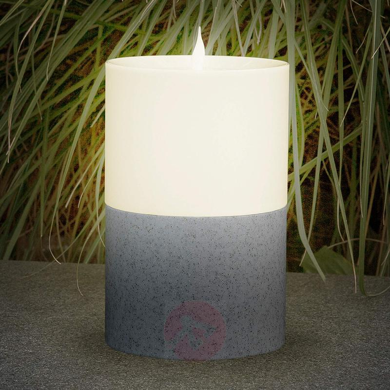 Decorative solar light Candle with base - outdoor-led-lights