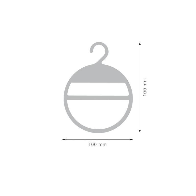 ANELLO CON GANCIO DIAM. 100 MM - Accessori Appendini