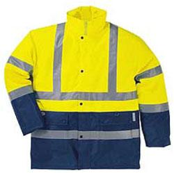 2 COLOR HIGH VISIBILITY POLYESTER PARKA - Suits Bodywear