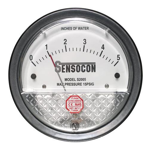 Differential Pressure Gauges and Switches - Sensocon - Differential Pressure Gauges and Switches