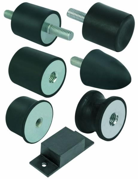 Rubber-metal buffers steel or stainless steel - Rubber-metal buffers steel or stainless steel, different types.
