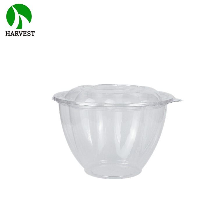 Round Flower Shaped Disposable Transparent Plastic Salad Container - Salad Containers