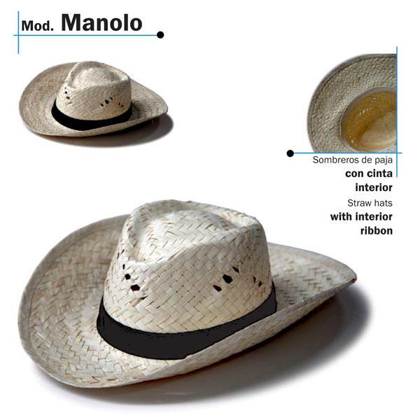 Chapéu de palha - Modelo Manolo