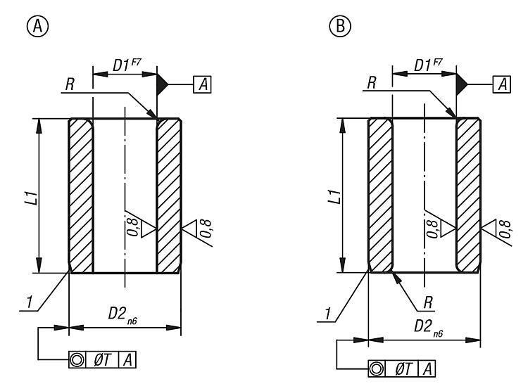 Flexibles Normteilesystem - Zylindrische Bohrbuchsen DIN 179