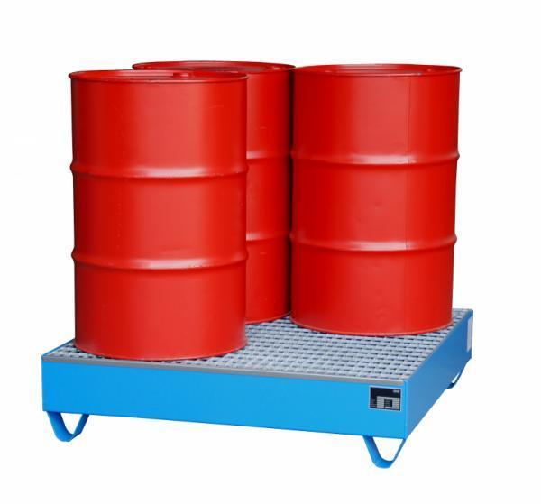 Auffangwanne Typ ECO 4/200 - Auffangwanne zur Lagerung von 4 x 200-l-Fässern