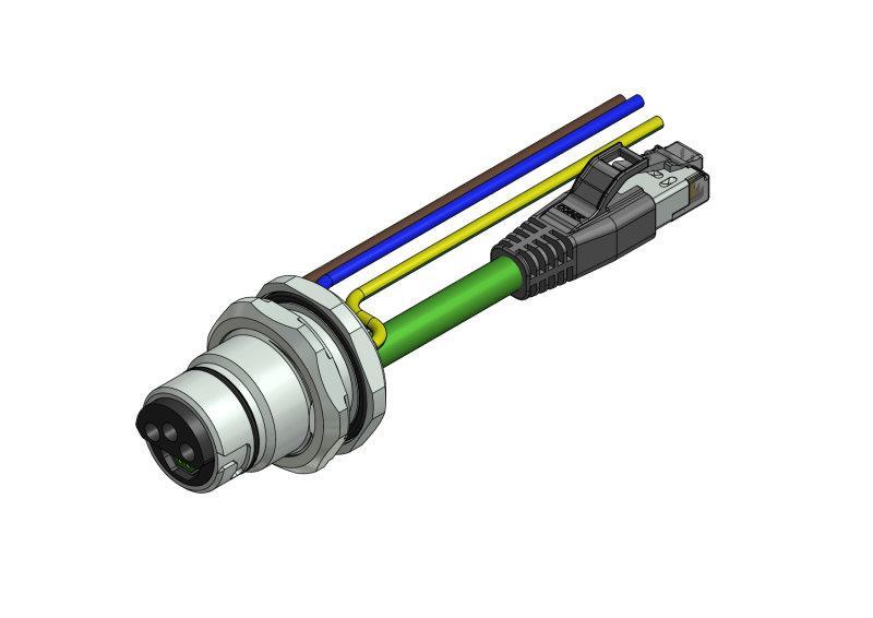 B17 Hybrid Einbauflansche - CONEC SuperCon® Hybrid Einbauflansche Baugröße B17