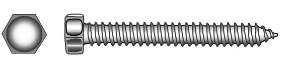 Hexagon head tapping screws (type C – cone point) - Material A2