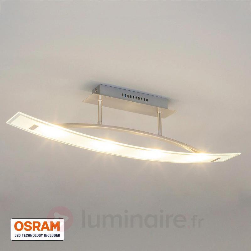 Plafonnier LED courbé Mirka - Plafonniers LED