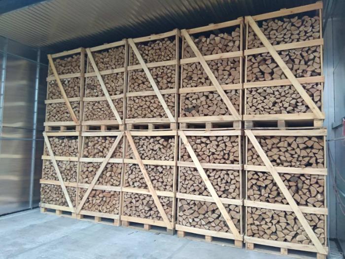 Дрова дубовые - Дубовые дрова в ящиках