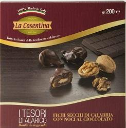 Fichi Secchi di Calabria - I Tesori di Alarico al Cioccolato gr.200 - null