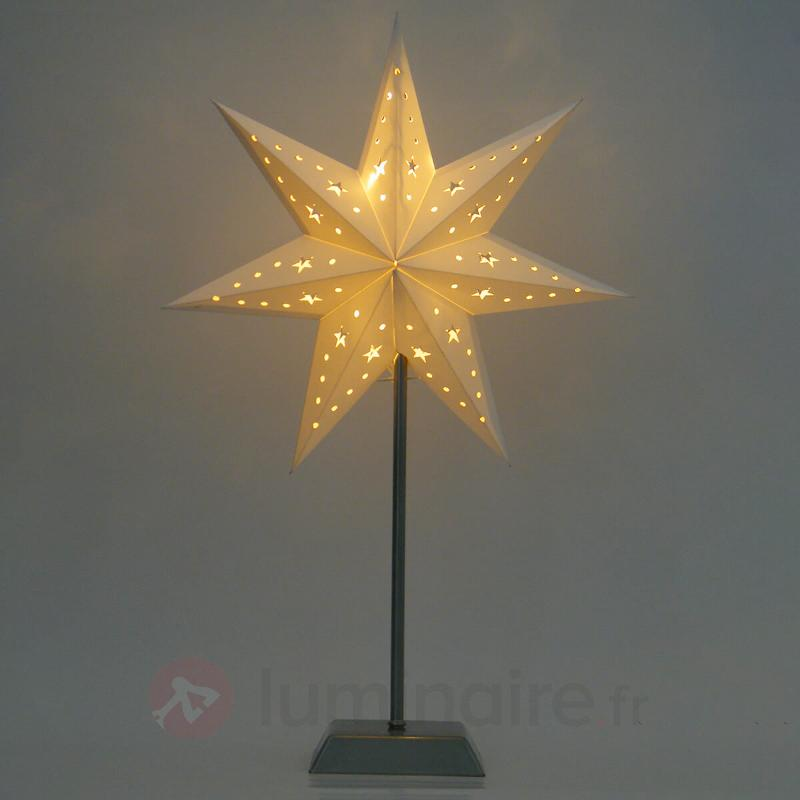 Étoile en papier LED 7 branches Whitemas