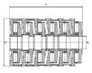 Rodamientos de empuje de rodillos cilíndricos de etapas - (Rodamientos en tándem)