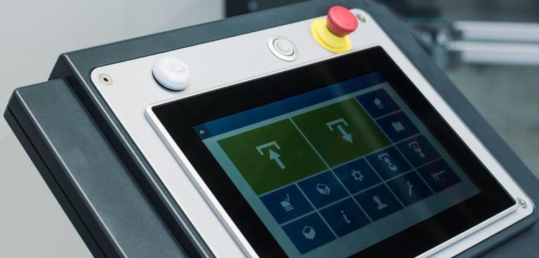 Innovative unit software with capacitive touch screen - Vertical Buffer Module