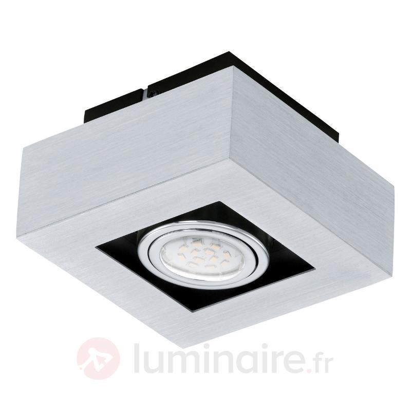 Plafonnier LED cubique Loke à 1 lampe - Plafonniers LED