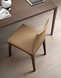 LADY/L1 - Sedia con basamento in legno