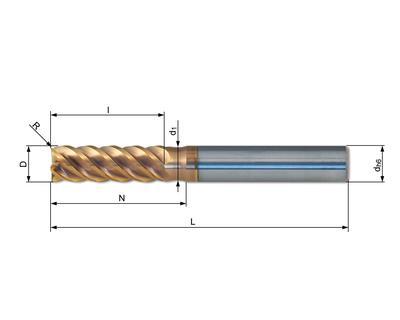 Vollhartmetallfräser VHC 567W-04 R01 HX70 - null