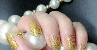 Cosmetics - Golden Glitter Nail Polish