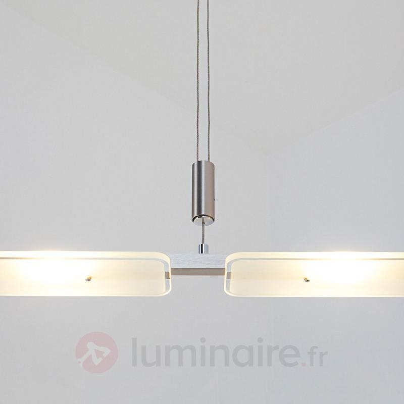 Suspension LED Mala en aluminium et en verre - Suspensions LED