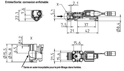 Vanne axiale bistable, DN 5 - 51.005.125 bi