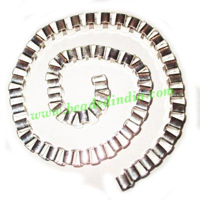 Silver Plated Metal Chain, size: 8mm, approx 7 meters in a K - Silver Plated Metal Chain, size: 8mm, approx 7 meters in a Kg.