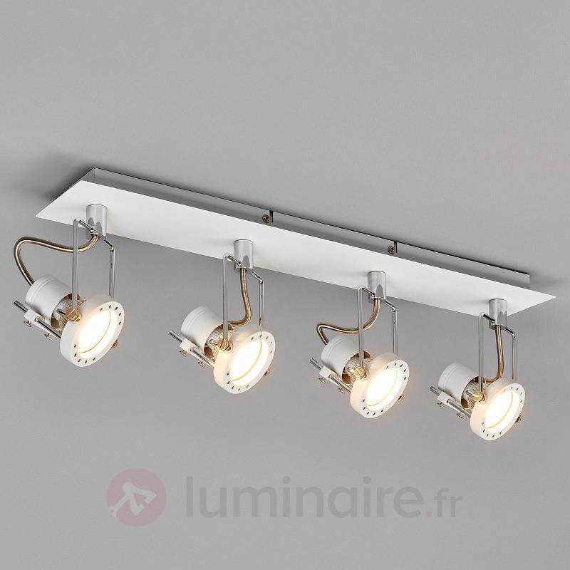 Plafonnier LED Agidio, 4 lampes - Plafonniers LED