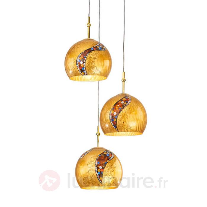 Suspension à 6 lampes LEONA KISS - Suspensions design