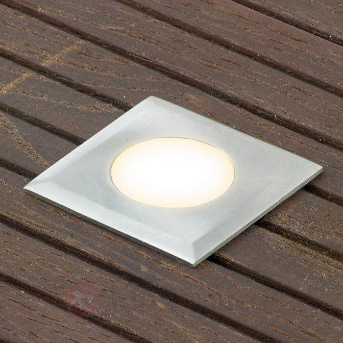 Kit 3 spots encastrés LED Nürnberg III carré - Luminaires LED encastrés au sol