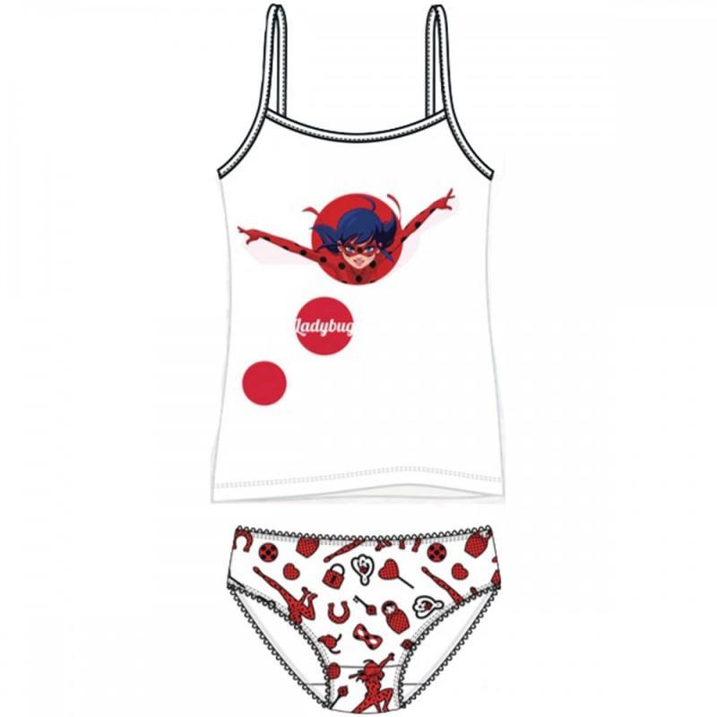12x Sous-vêtements 2 pieces LadyBug du 3 au 8 ans - Sous-vêtement