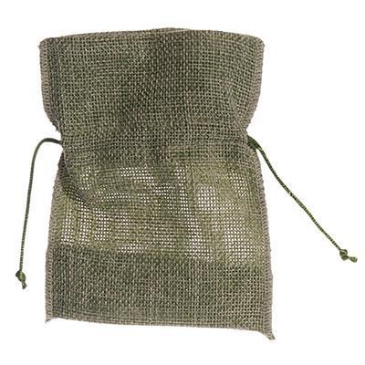 BAG IN JUTE (9,5x12)cm GREEN - Item No. 1990014MO