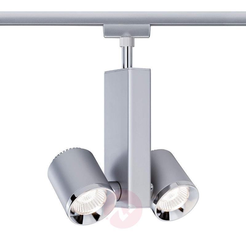 Two bulb LED spotlight TecLED II in chrome - U-Rail