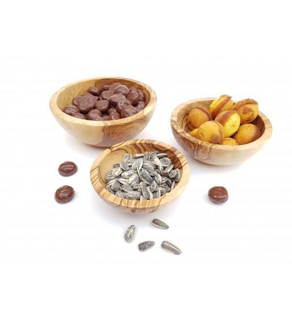 Bols à olives en bois d'olivier