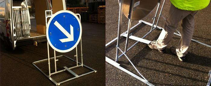 Signalisation temporaire - Panneaux extra plat XP - null