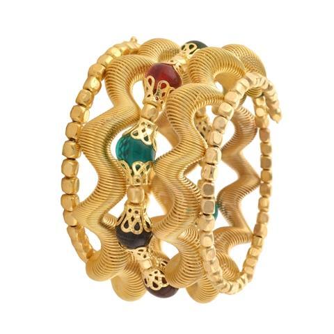 Beaded Spiral Hand Bracelet/Bangle