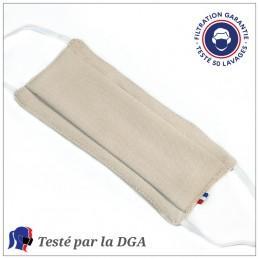 Masque Tissu Dga 50 Lavages Beige (Préconisation Afnor) - null