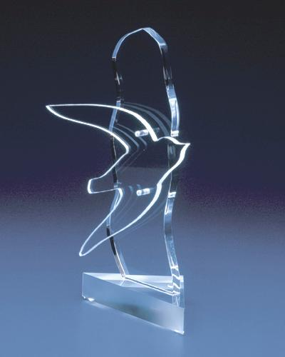 Trophées & tombstones en Plexiglas  - Trophée type: award spec 3