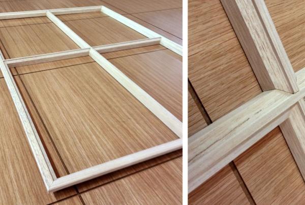 Element de porte en bois - null