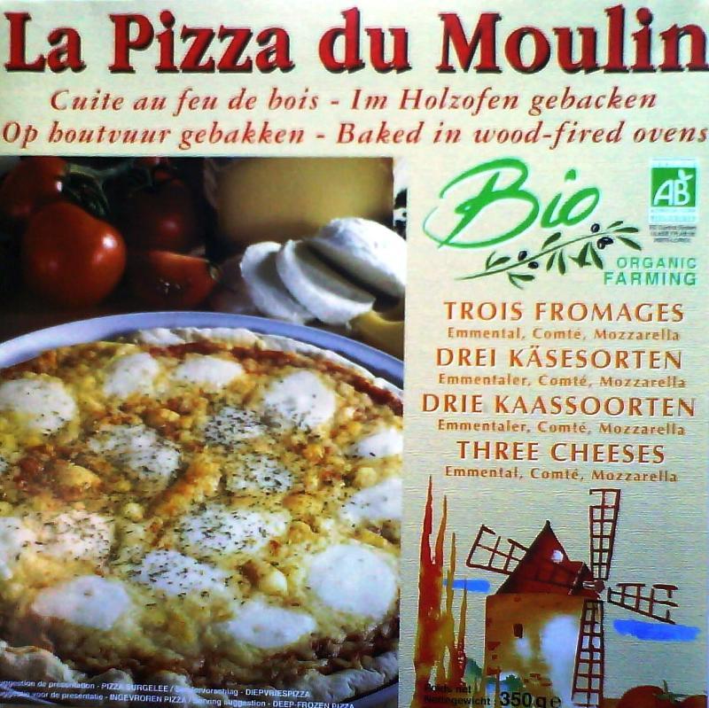 Pizza aux 3 fromages - Biologique et surgelée