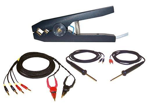 2385-V001,2385-V020,2386-V001,2387-V001,2387-V020 - Kelvin test tongs and test probes, for different test sample cross sections