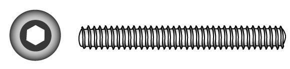 Gewindestifte mit Innensechskant und Kegelkuppe - Material A2 | A4