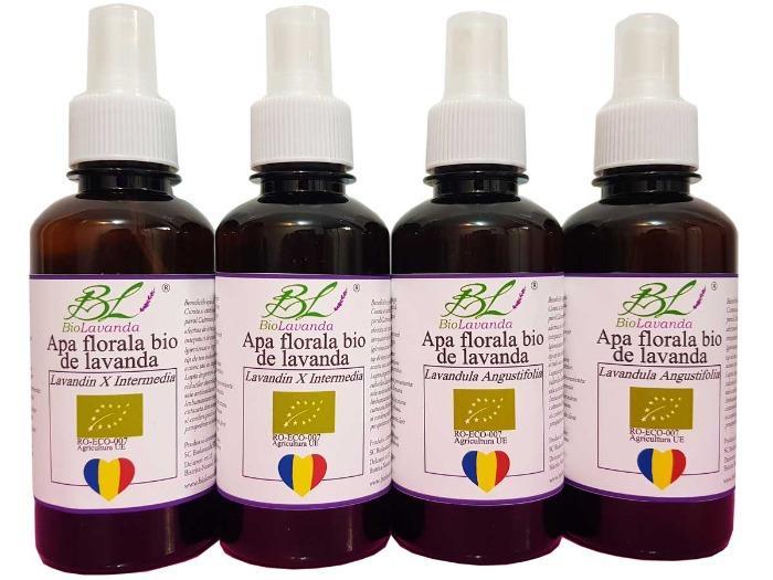 Apa florala de lavanda certificata ecologic -  Angustifolia Sevtopolis si Lavandin X Intermedia Grosso