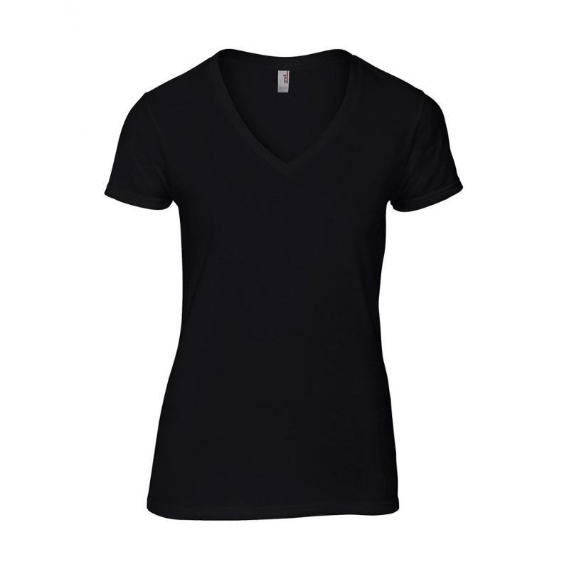 Tee-shirt femme Fashion col V - Manches courtes