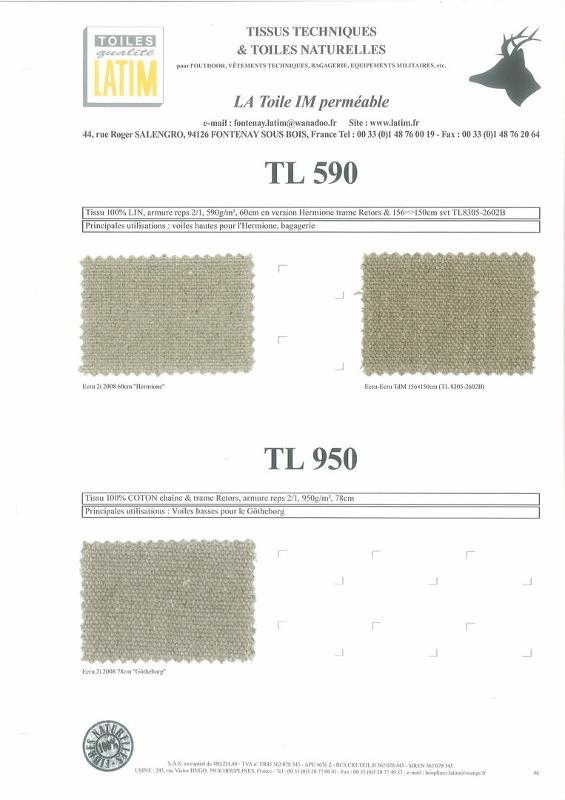 TL 590 & TL 950 - Toiles naturelles