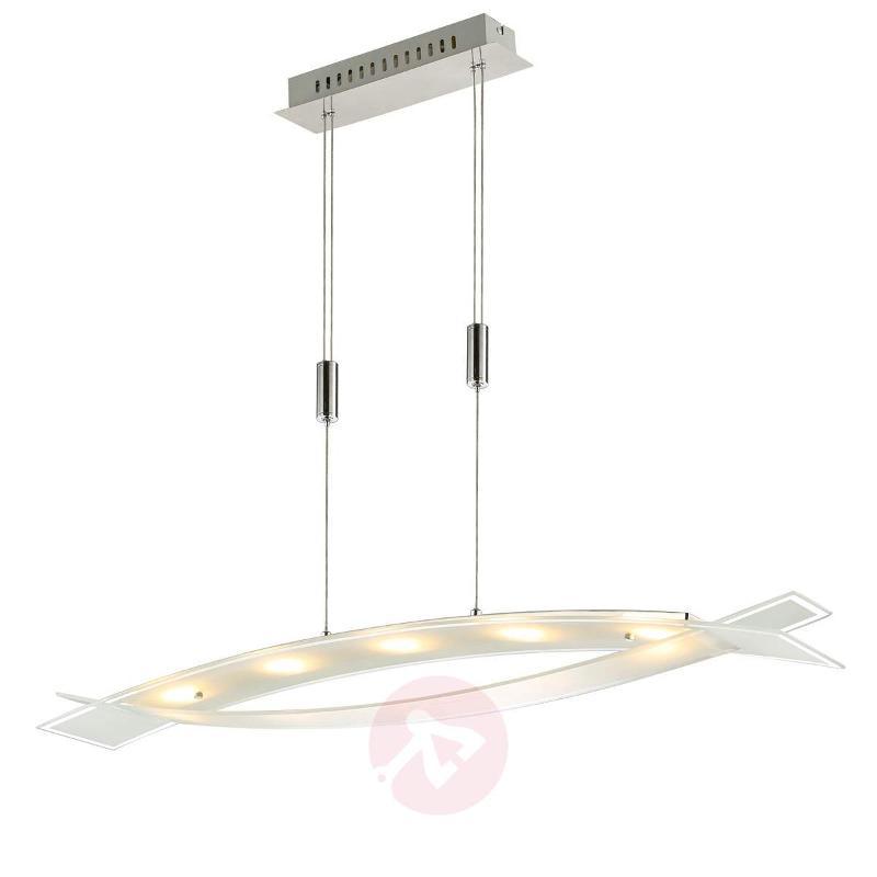 Elina LED hanging lamp, frosted glass lampshade - Pendant Lighting