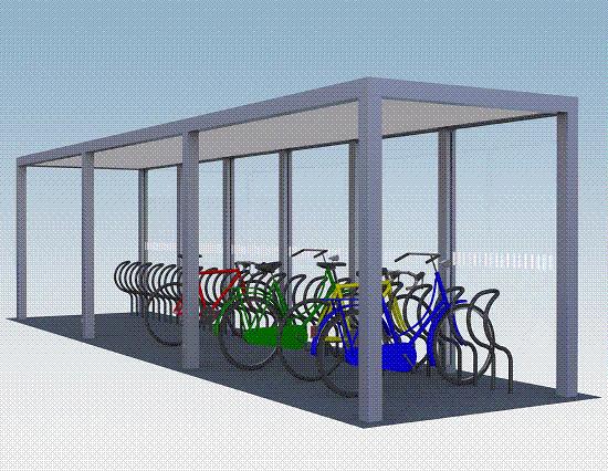 Fahrradüberdachung Sharp / Sharp ST