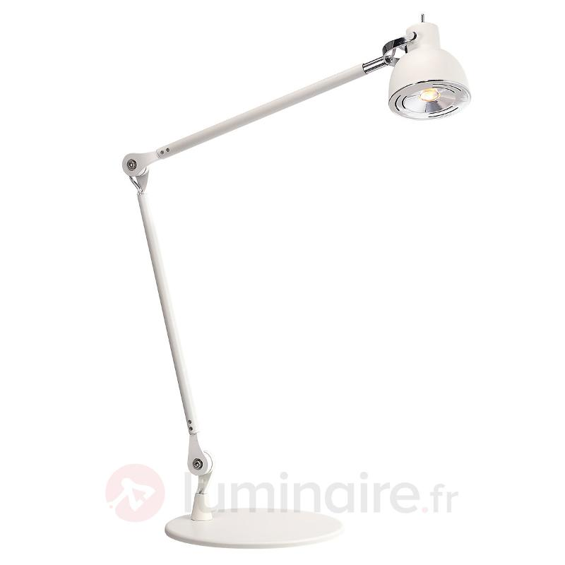 Duett - lampe à poser LED articulée en blanc - Lampes de bureau LED