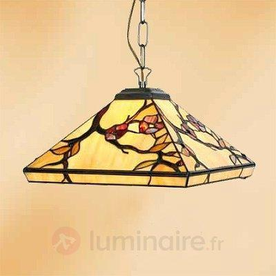 Suspension Juliett style Tiffany à 1 lampe - Suspensions style Tiffany
